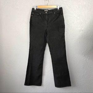 Christopher&Banks Stretch Black Wash Denim Jeans 4
